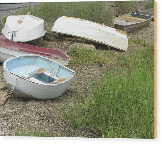 Dinghy Wood Print by Peter Williams