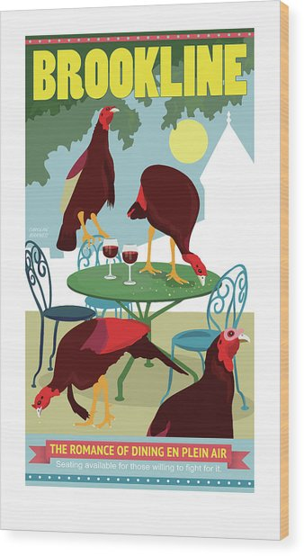 Dining En Plein Air Wood Print