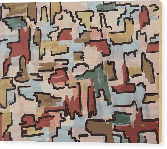 Dino Pattern Wood Print