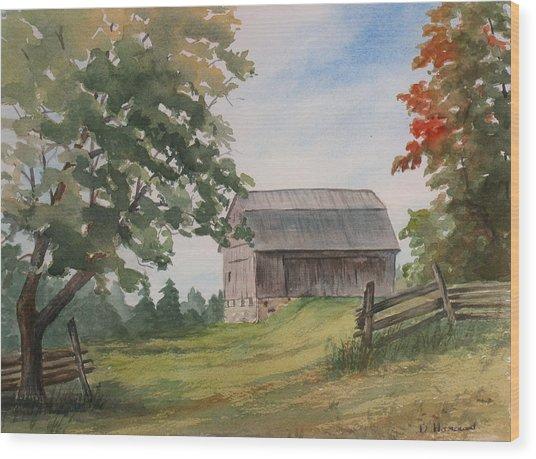 Disappearing Heritage Wood Print by Debbie Homewood