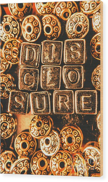 Disclosure Wood Print