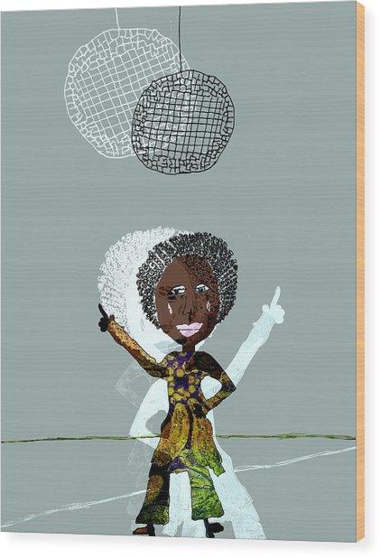 Disco Lady Wood Print