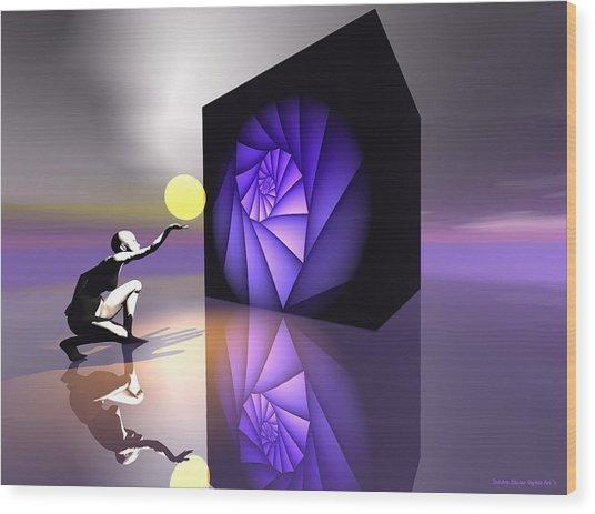 Wood Print featuring the digital art Discovery by Sandra Bauser Digital Art
