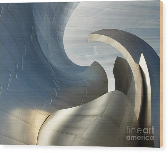 Disney Concert Hall Swirl Wood Print