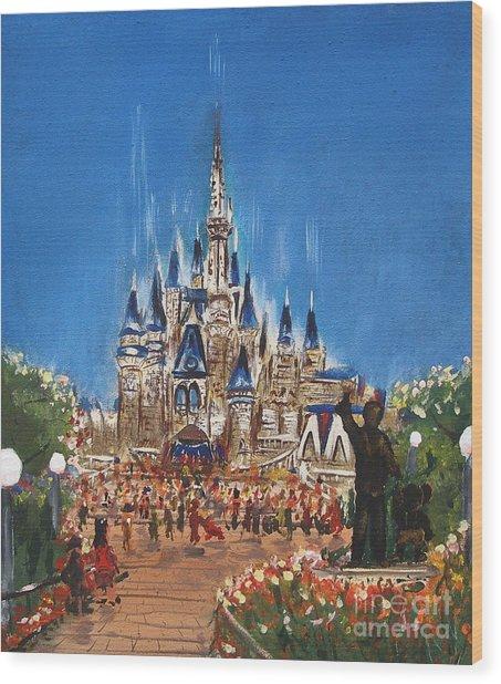 Disney World Wood Print