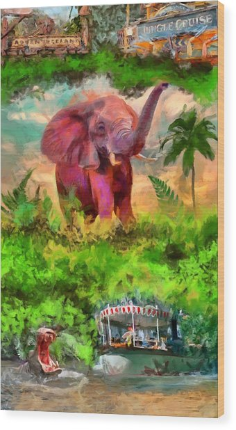 Disney's Jungle Cruise Wood Print