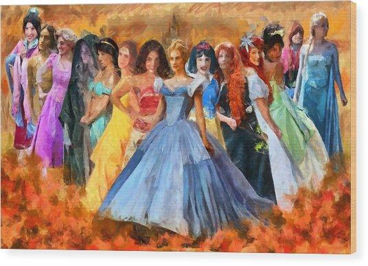Disney's Princesses Wood Print