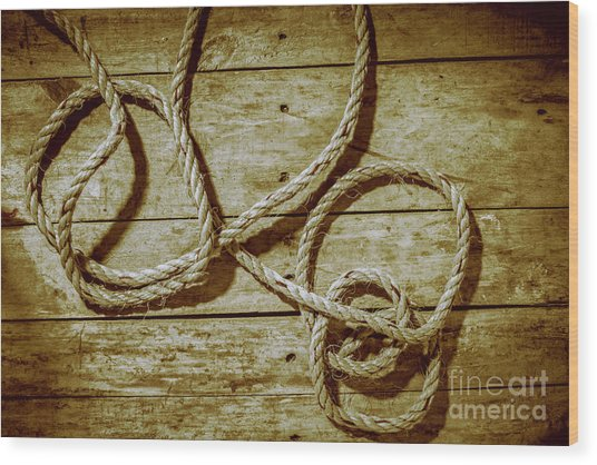 Dispatched Ropes And Voyages Wood Print