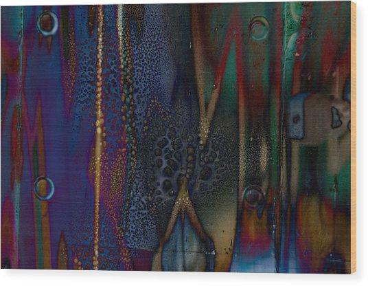 Disrupted Graffiti Wood Print by John Ricker
