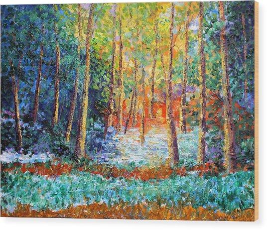 Distant Brilliance Wood Print