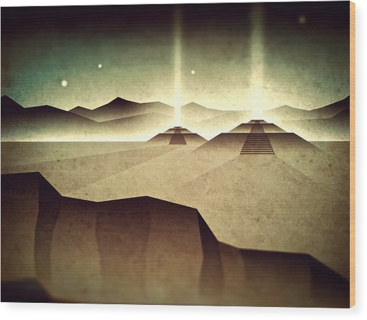 Distant Past Horizon Wood Print