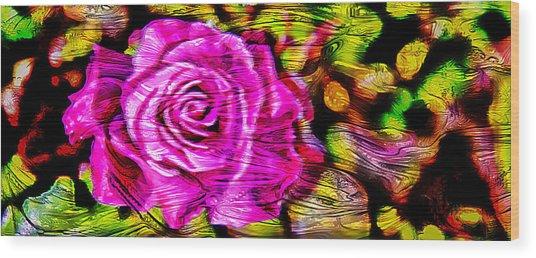 Distorted Romance Wood Print