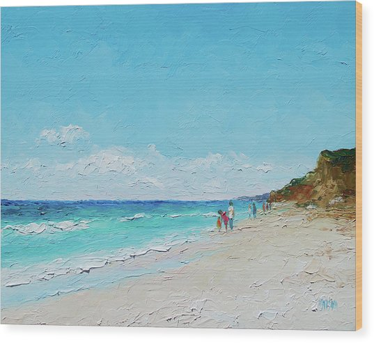 Ditch Plains Beach Montauk Hamptons Ny Wood Print