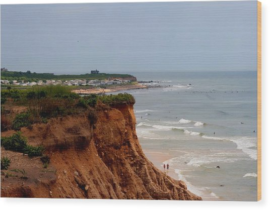 Ditch Plains Montauk Wood Print