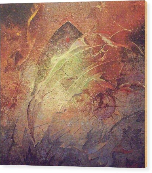 Dive Wood Print by Fred Wellner