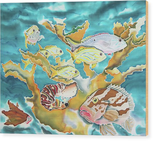 Divers Wet Dream Wood Print