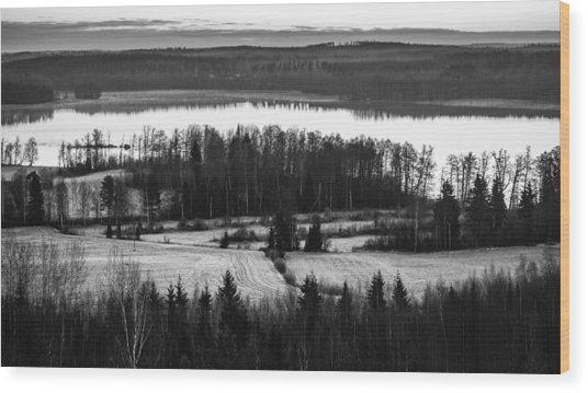 Divider Wood Print by Matti Ollikainen