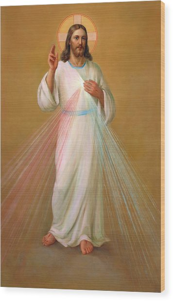 Divine Mercy - Divina Misericordia Wood Print