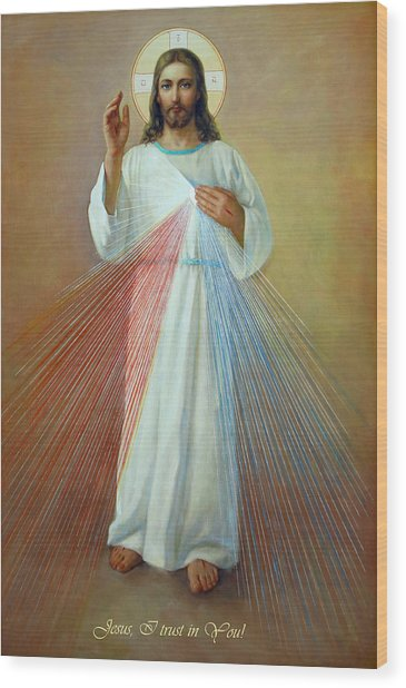 Divine Mercy - Jesus I Trust In You Wood Print