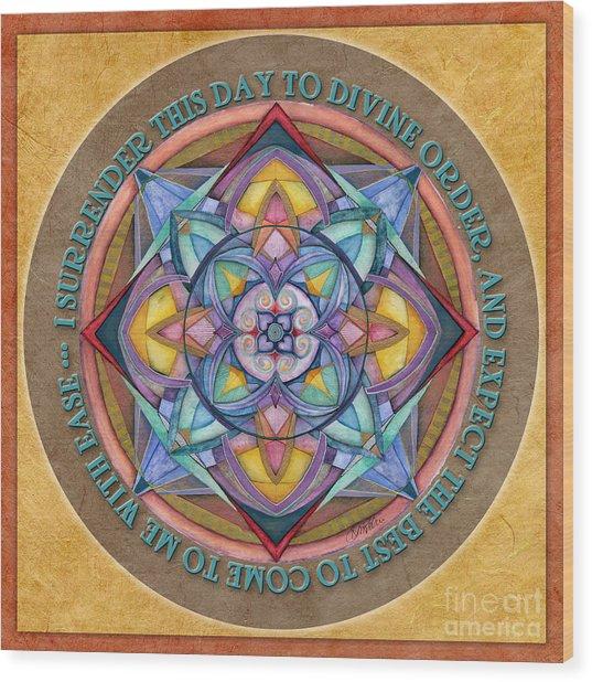 Divine Order Mandala Prayer Wood Print