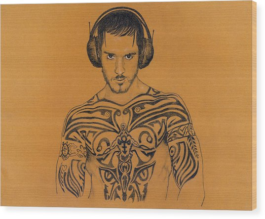 DJ Wood Print