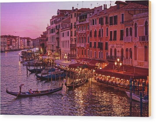 Magical, Venetian Blue Hour Wood Print