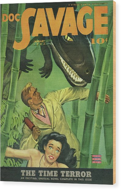 Doc Savage The Time Terror Wood Print