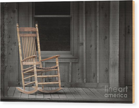 Dock Chair Wood Print