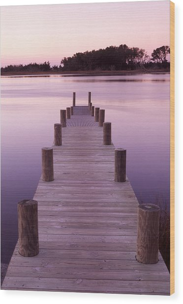 Dock Wood Print by Eric Foltz