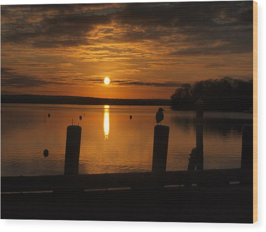 Dock Of The Bay Wood Print