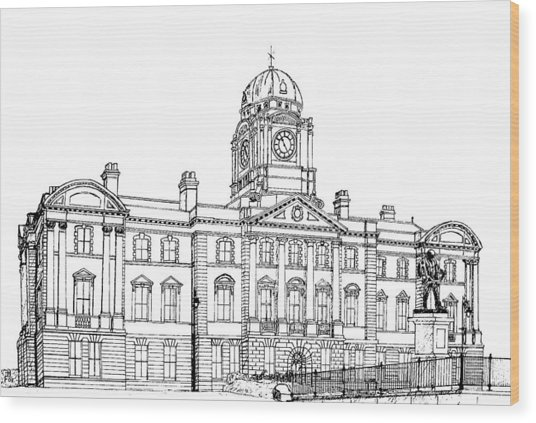 Dock Offices. Barry Wood Print