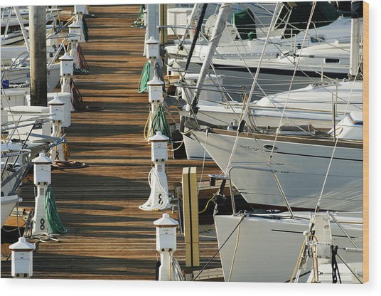 Dock Walk Wood Print