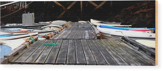 Docked Up Wood Print by Sarah Jean Sylvester