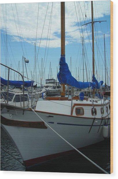 Docking Bay Wood Print by Peter Mowry