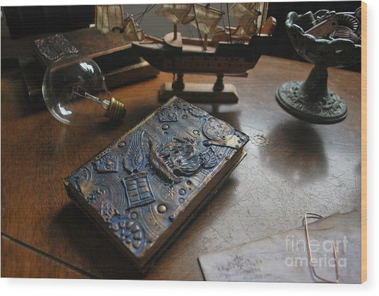 Doctor Who Steampunk Journal  Wood Print