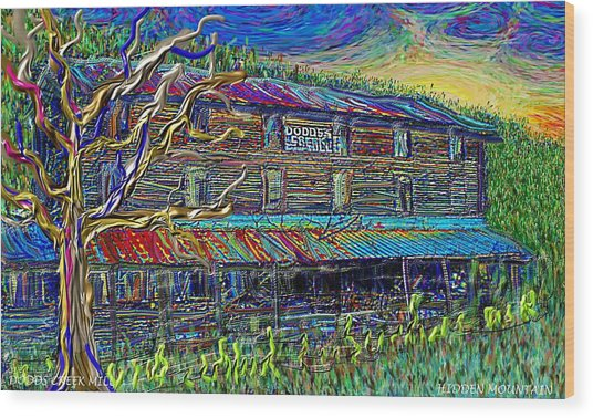 Dodds Creek Mill, ,floyd Virginia Wood Print