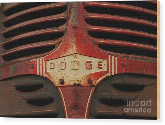 Dodge 41 Grill Wood Print