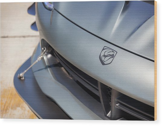 Wood Print featuring the photograph #dodge #acr #viper #print by ItzKirb Photography