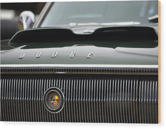 Dodge Charger Hood Wood Print
