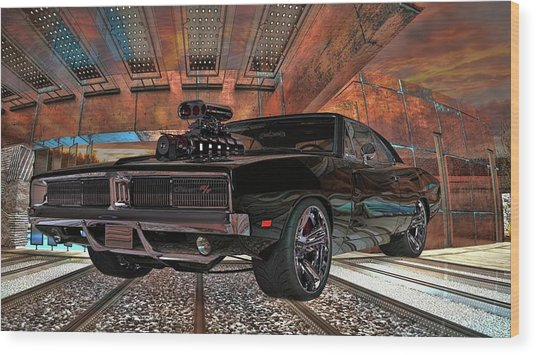 Dodge Charger R/t 1969 Hemi Wood Print