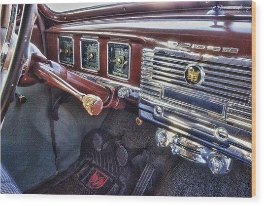 Dodge Dash Wood Print