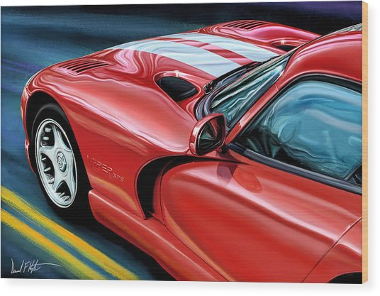 Dodge Viper Coupe Wood Print