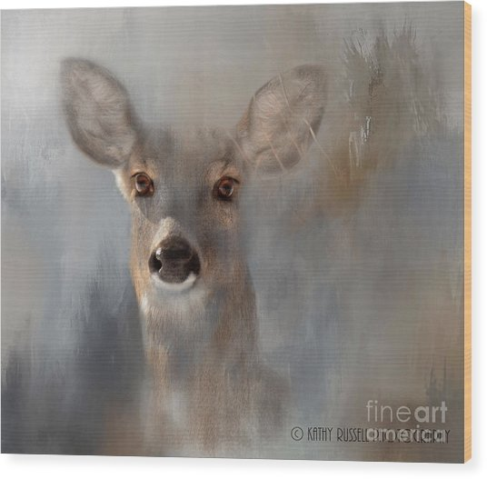 Doe Eyes Wood Print