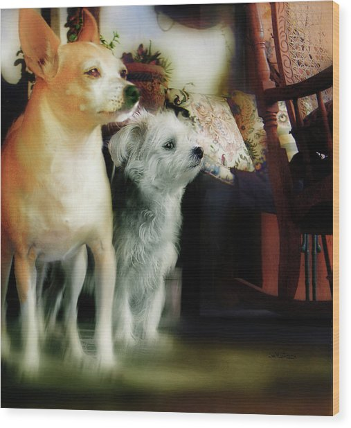 The Real Chiqui And Heichel Wood Print