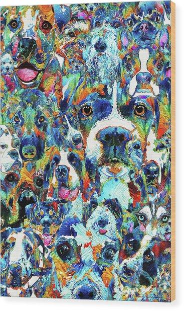 Dog Lovers Delight - Sharon Cummings Wood Print
