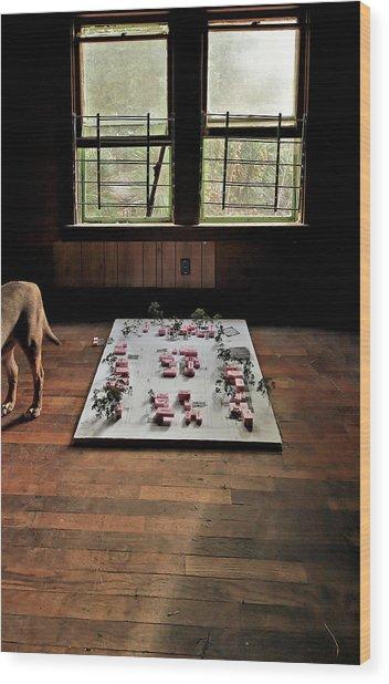 Dog Town Wood Print
