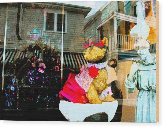 Doggie In The Window Wood Print