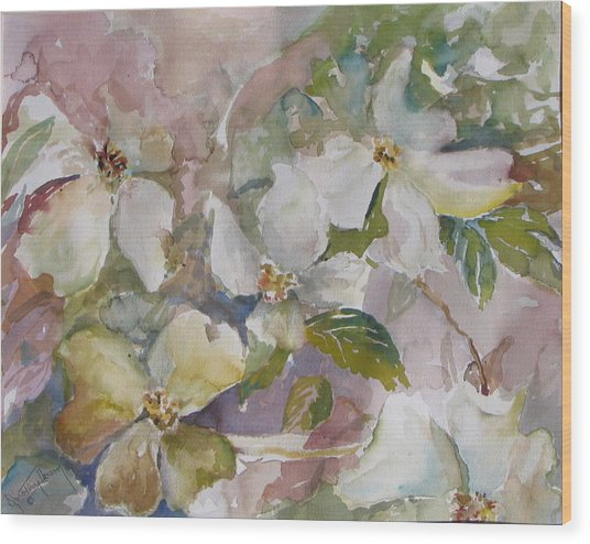Dogwood Wood Print by Dorothy Herron
