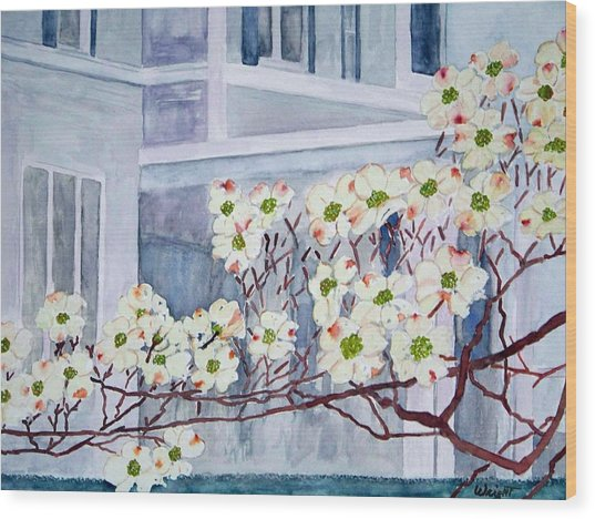 Dogwood Time In Oldtown Wood Print by Larry Wright