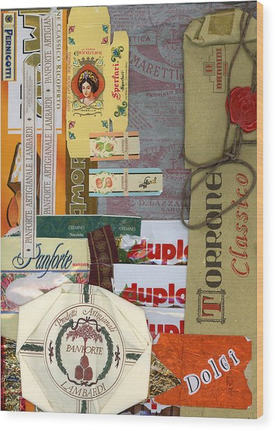 Dolci Wood Print by Nancy Ferrier
